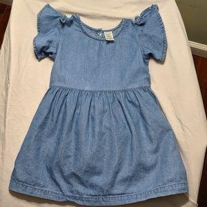 Carter's Split Shoulder Denim Dress - Size 24M